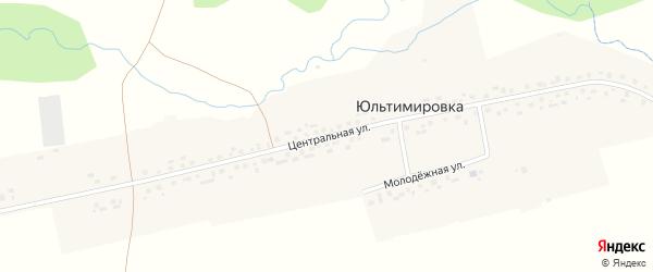 Центральная улица на карте деревни Юльтимировки с номерами домов