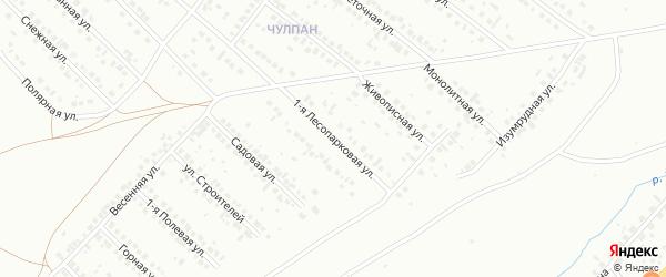 Лесопарковая улица на карте деревни Япрыковского Пожарного Депо с номерами домов