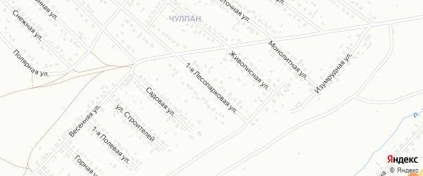 Лесопарковая улица на карте Октябрьского с номерами домов