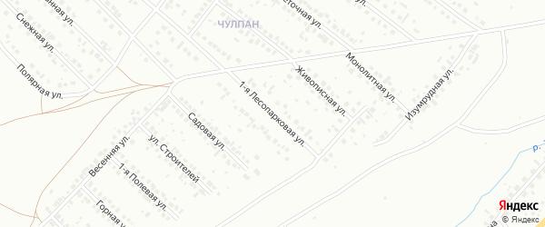 Лесопарковая 1-я улица на карте Туймаз с номерами домов