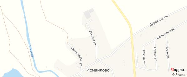 Дачная улица на карте деревни Исмаилово с номерами домов