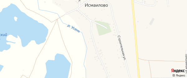 Солнечная улица на карте деревни Исмаилово с номерами домов