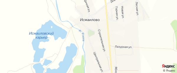 Карта деревни Исмаилово в Башкортостане с улицами и номерами домов