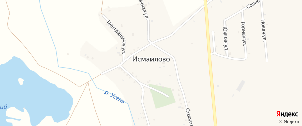 Школьная улица на карте деревни Исмаилово с номерами домов