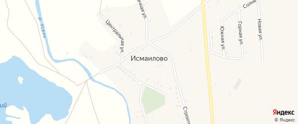 Лазурная улица на карте деревни Исмаилово с номерами домов