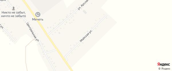 Майская улица на карте села Какрыбашево с номерами домов