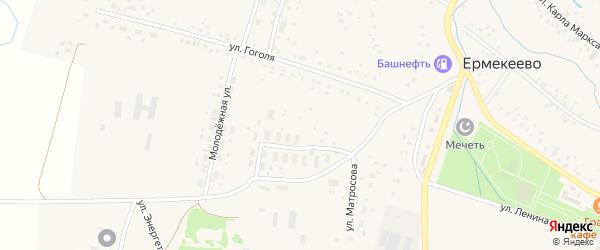Улица Сельхозтехники на карте села Ермекеево с номерами домов