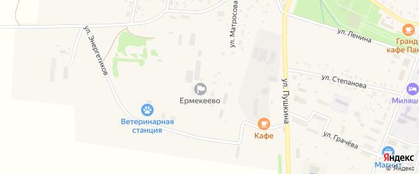 Улица Энергетиков на карте села Ермекеево с номерами домов