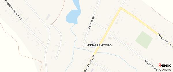 Заречная улица на карте села Нижнезаитово с номерами домов