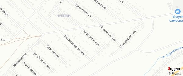 Живописная улица на карте Туймаз с номерами домов
