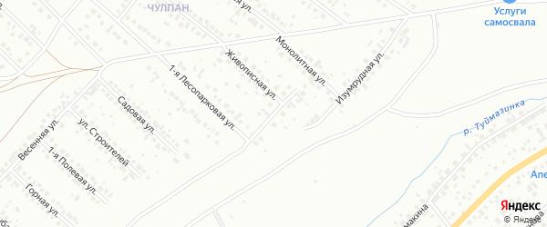 Лесопарковый переулок на карте Туймаз с номерами домов