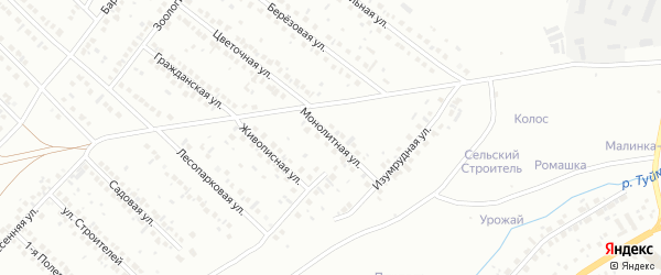 Монолитная улица на карте Туймаз с номерами домов