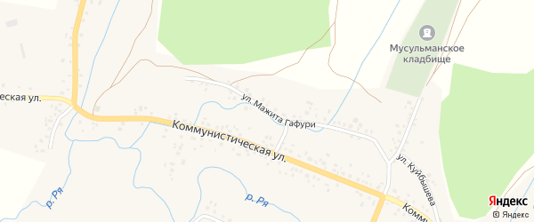 Улица М.Гафури на карте села Ермекеево с номерами домов