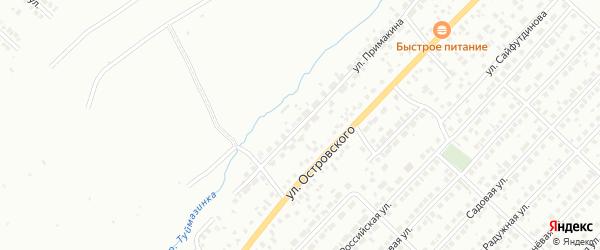 Улица Примакина на карте Туймаз с номерами домов