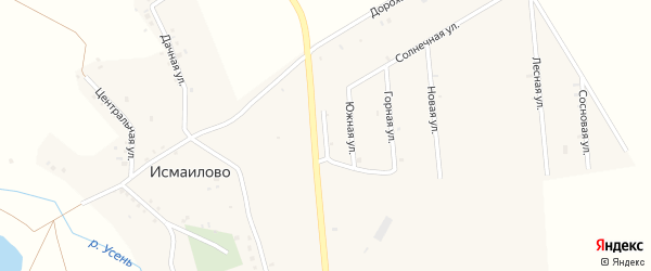 Березовая улица на карте деревни Исмаилово с номерами домов