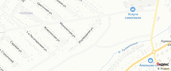 Изумрудная улица на карте Туймаз с номерами домов