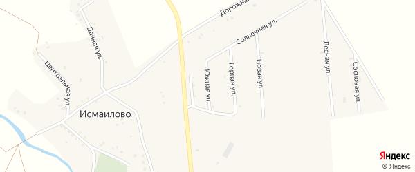 Южная улица на карте деревни Исмаилово с номерами домов