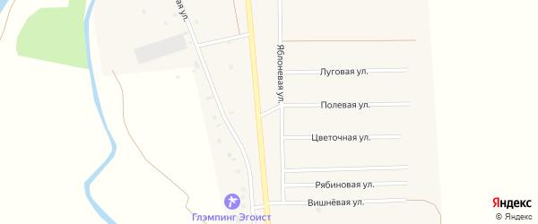 Яблоневая улица на карте деревни Исмаилово с номерами домов