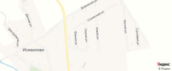 Горная улица на карте деревни Исмаилово с номерами домов