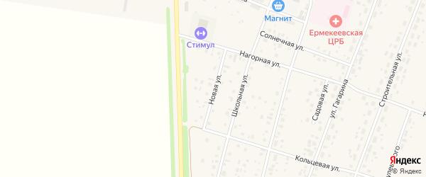 Новая улица на карте села Ермекеево с номерами домов
