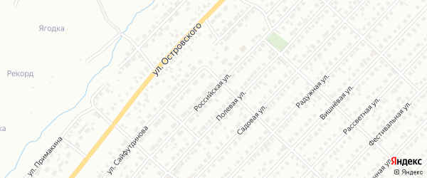 Российская улица на карте Туймаз с номерами домов