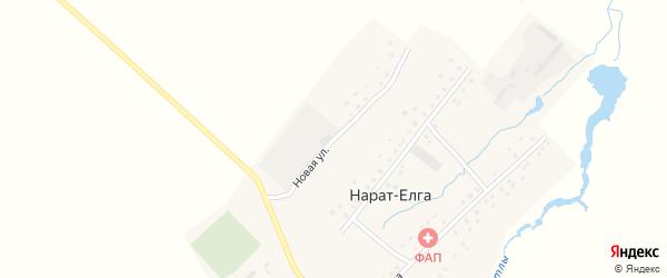 Новая улица на карте села Нарата-Елги с номерами домов