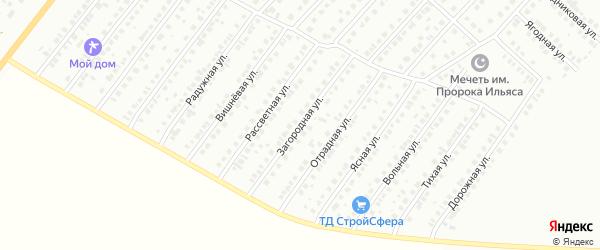 Загородная улица на карте Туймаз с номерами домов