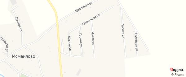 Новая улица на карте деревни Исмаилово с номерами домов