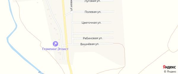 Рябиновая улица на карте деревни Исмаилово с номерами домов