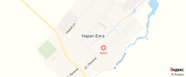 Улица Октября на карте села Нарата-Елги с номерами домов