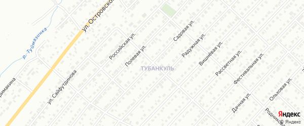 Садовая улица на карте Туймаз с номерами домов