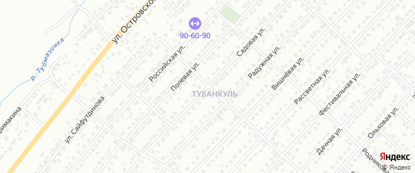 Садовая 1-я улица на карте Туймаз с номерами домов