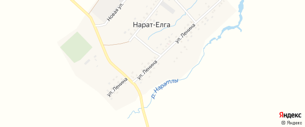Улица Ленина на карте села Нарата-Елги с номерами домов
