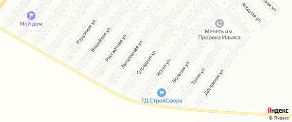 Отрадная улица на карте Туймаз с номерами домов