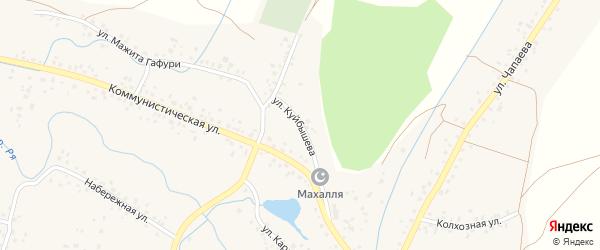 Улица Куйбышева на карте села Ермекеево с номерами домов