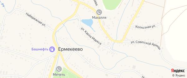 Улица Карла Маркса на карте села Ермекеево с номерами домов