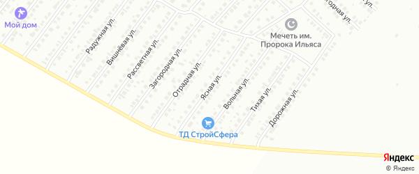 Ясная улица на карте Туймаз с номерами домов