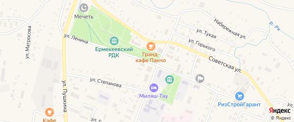 Улица Ленина на карте села Ермекеево с номерами домов