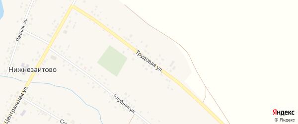 Трудовая улица на карте села Нижнезаитово с номерами домов