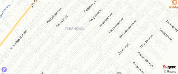 Вишневая улица на карте Туймаз с номерами домов