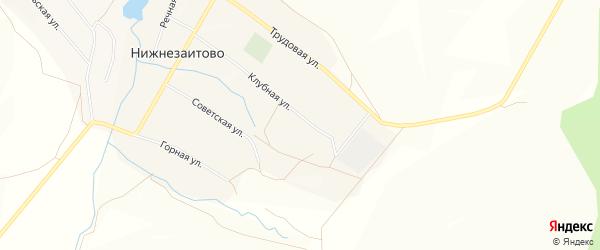 Карта села Нижнезаитово в Башкортостане с улицами и номерами домов