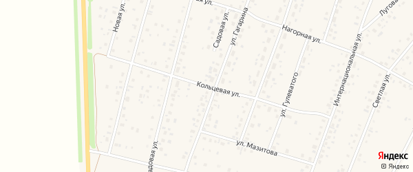 Кольцевая улица на карте села Ермекеево с номерами домов