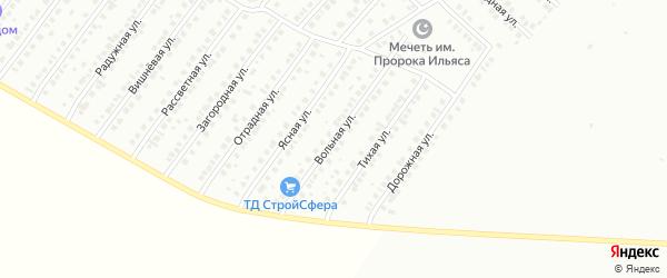 Вольная улица на карте Туймаз с номерами домов