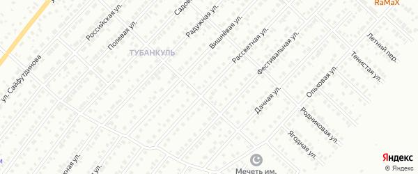 Рассветная улица на карте Туймаз с номерами домов