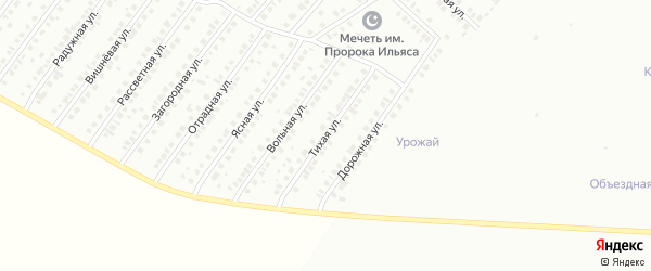 Тихая улица на карте Туймаз с номерами домов