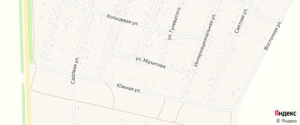 Улица Мазитова на карте села Ермекеево с номерами домов