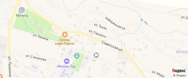 Советская улица на карте села Ермекеево с номерами домов