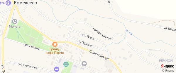 Тукая улица на карте села Ермекеево с номерами домов