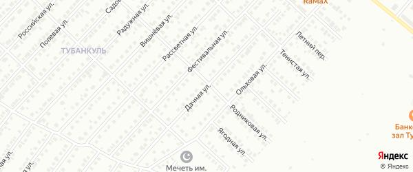 Дачная улица на карте Туймаз с номерами домов
