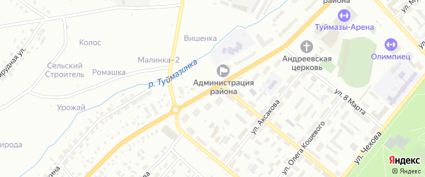 Улица Островского на карте Туймаз с номерами домов